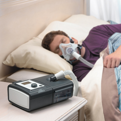 CPAP machine in use