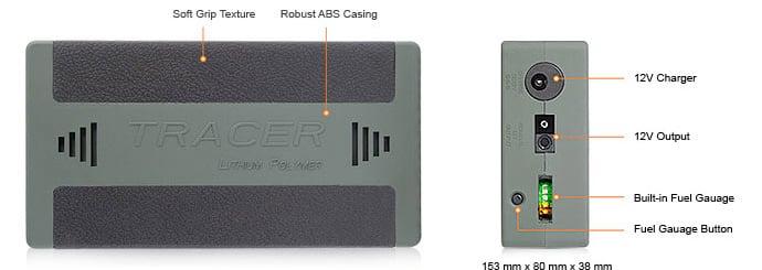 Tracer 12V Ultra CPAP Battery Pack
